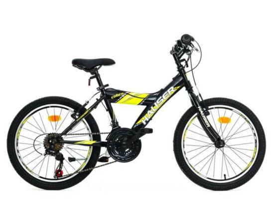 Hauser Cobra 20-as gyerek kerékpár, 18s, fekete-sárga