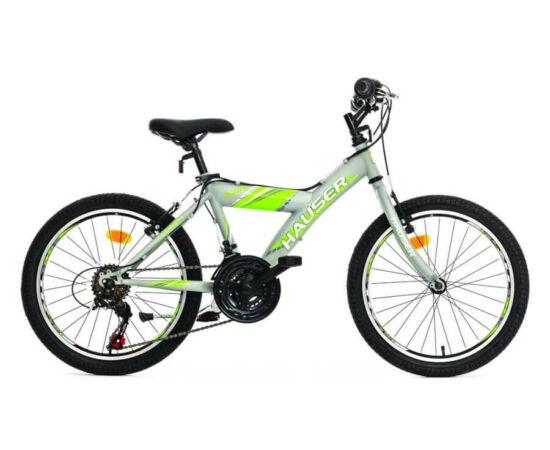 Hauser Cobra 20-as gyerek kerékpár, 18s, szürke-zöld