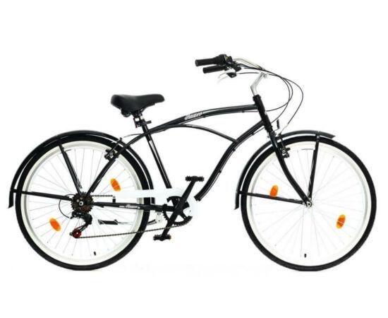 Hauser Cruiser férfi 26-os városi kerékpár, acél, 6s, 18-as, fekete