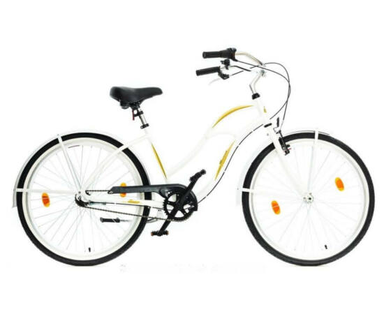 Hauser Cruiser női 26-os városi kerékpár, alu, 3s (agyváltós), 18-as, fehér