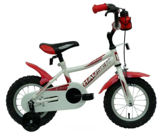 Hauser Puma 12-es BMX gyerek kerékpár, acél, fehér-piros