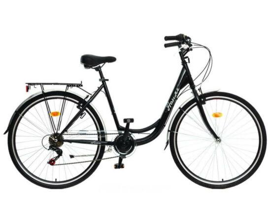Hauser Swan acél női 28-as városi kerékpár, 6s, fekete