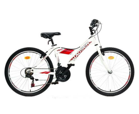 Hauser Viper 24-es junior kerékpár, 18s, acél, fehér - piros matrica