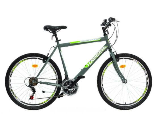 Hauser Wildcat férfi 26-os MTB kerékpár, acél, 18s, 22-es, matt szürke-zöld