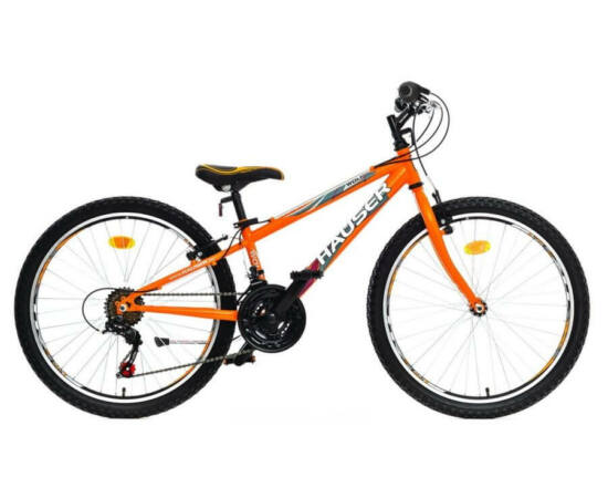 Hauser Wolf 24-es fiú kerékpár, 18s, acél, narancs