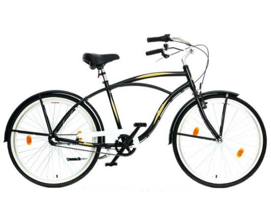 Hauser Cruiser férfi 26-os városi kerékpár, alumínium, 3s (agyváltós), 18-as, fekete