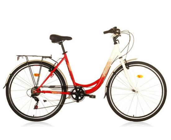 Hauser Swan NŐI kerékpár fehér - piros, 6 seb