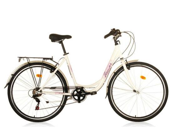 Hauser Swan acél női 28-as városi kerékpár, 6s, fehér