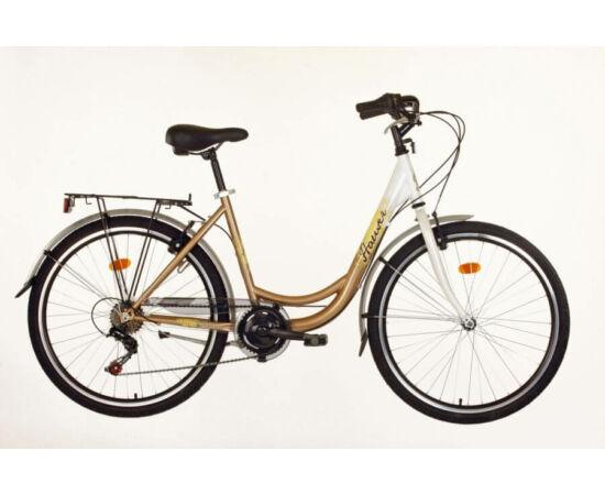 Hauser Swan NŐI kerékpár fehér - arany, 6 seb