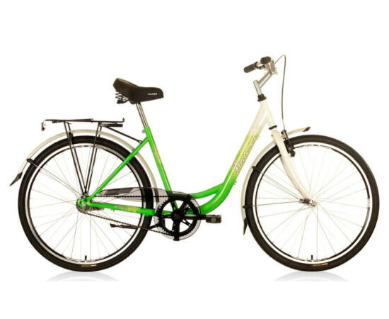 Hauser Swan NŐI kerékpár fehér - zöld, 1 seb