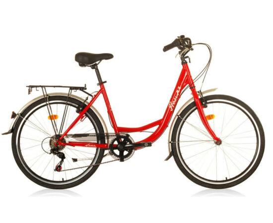Hauser Swan NŐI kerékpár piros, 6 seb