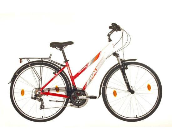 Hauser Voyager NŐI kerékpár, 18-as fehér - piros