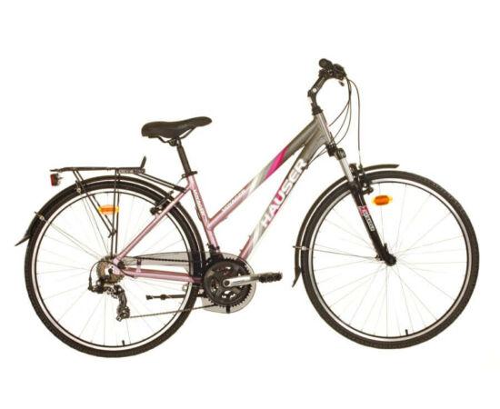 Hauser Voyager NŐI kerékpár 18-as matt szürke - rózsaszín