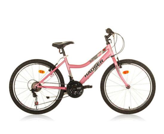 Hauser Wolf 24-es lány kerékpár, 18s, acél, rózsaszín