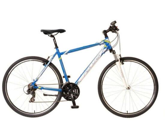 Neuzer X1 férfi 28-as cross kerékpár, 21s, alumínium, 19-es, kék-fehér-zöld