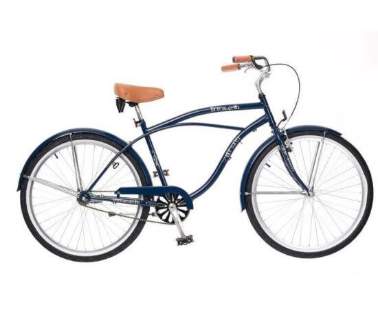 Neuzer Beach 26-os férfi cruiser kerékpár, acél, 1s, sötétkék