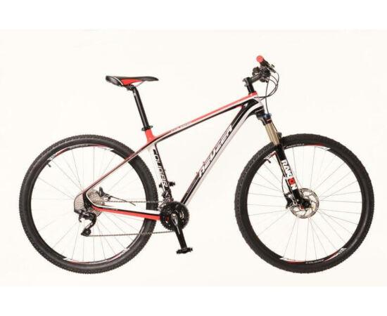 Neuzer Cougar férfi 29-es karbon MTB kerékpár, 20s, 19-es fekete-piros-fehér
