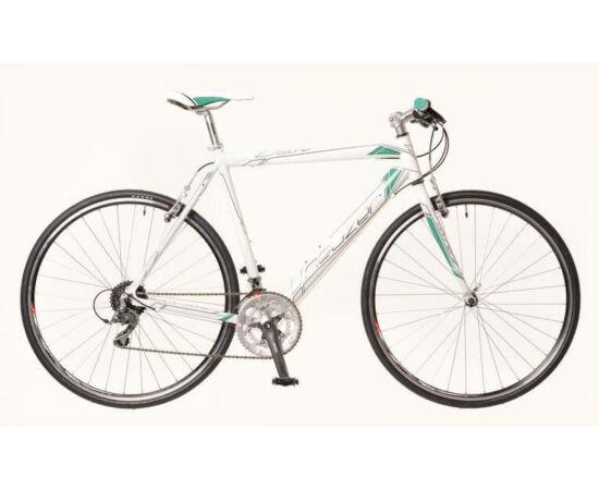 Neuzer Courier DT férfi 28-as cross kerékpár, alumínium, 16s, 60 cm, fehér-türkiz