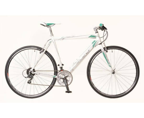 Neuzer Courier DT férfi 28-as cross kerékpár, alumínium, 16s, 56 cm, fehér-türkiz