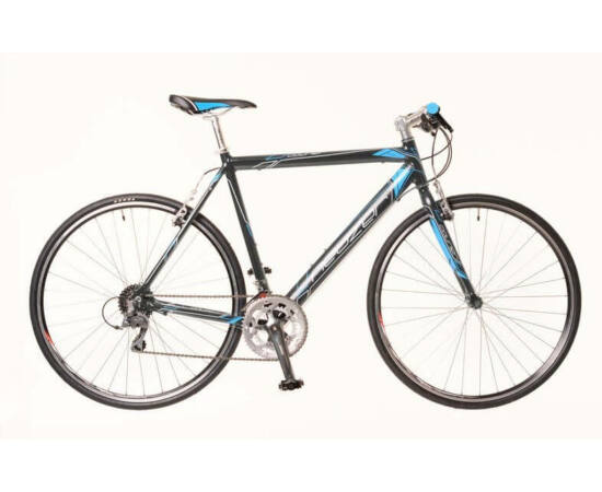 Neuzer Courier DT férfi 28-as cross kerékpár, alumínium, 16s, 52 cm, szürke-kék