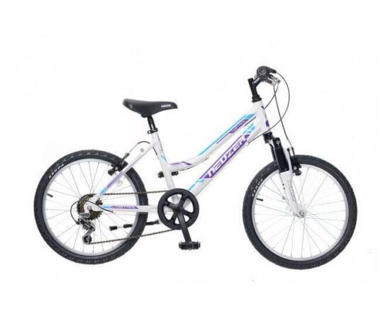 Neuzer Mistral 20-as lány kerékpár, alumínium, 6s, fehér-lila-türkiz