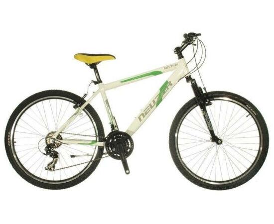 """Neuzer Mistral 50 férfi hobbi 26"""" MTB kerékpár 15-ös fehér-zöld"""