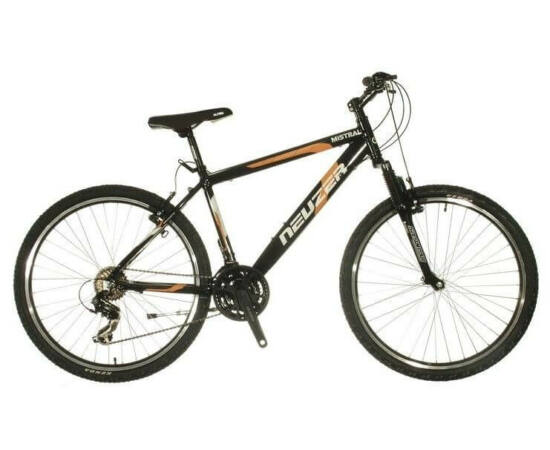 Neuzer Mistral 50 férfi hobbi MTB kerékpár 19-es  fekete-narancs