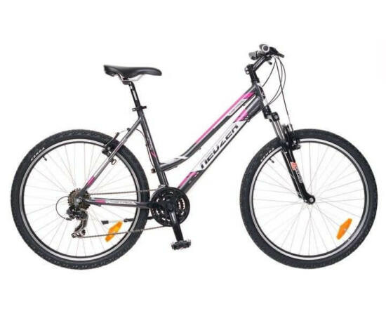 Neuzer Mistral 50 női hobbi MTB kerékpár 15-ös antracit-fehér-pink