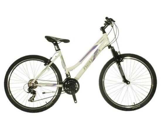 """Neuzer Mistral 50 női hobbi 26"""" MTB kerékpár 17-es fehér-lila-cián"""