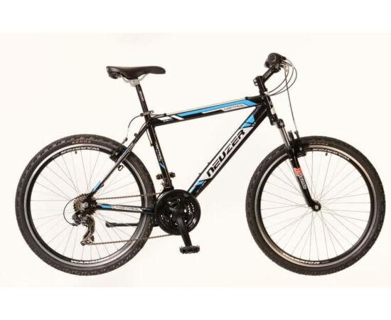 Neuzer Mistral férfi hobbi 26-os MTB kerékpár, alumínium, 21s, 15-ös, fekete-fehér-cián