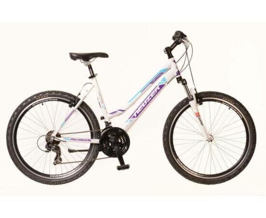 Neuzer Mistral női hobbi 26-os MTB kerékpár, alumínium, 21s, 19-es, fehér-lila-cián