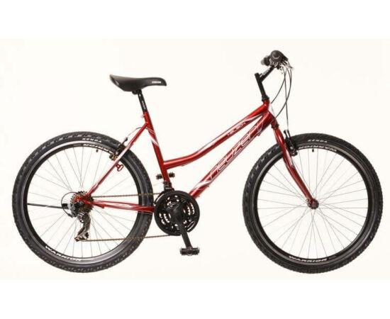 Neuzer Nelson 30 női hobbi MTB kerékpár, acél, 21s, 19-es, bordó-fehér-szürke