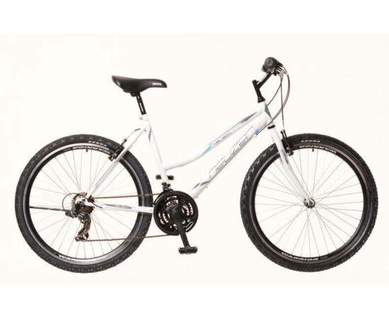 Neuzer Nelson 30 női hobbi MTB kerékpár, acél, 21s, 17-es, fehér-szürke-türkiz