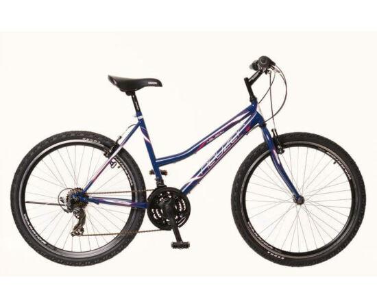 Neuzer Nelson 30 női hobbi MTB kerékpár, acél, 21s, 19-es, sötétkék-fehér-mályva