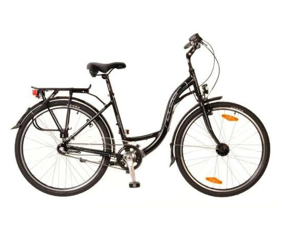 Neuzer Padova 26-os női városi kerékpár, alumínium, agyváltós (3s), agydinamós, 17-es, fekete-türkiz