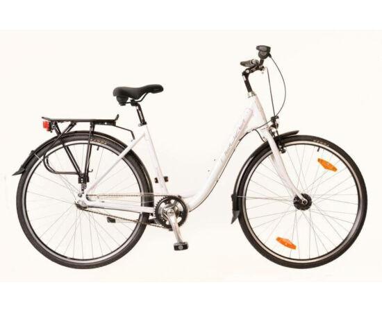 Neuzer Padova 28-as női városi kerékpár, alumínium, agyváltós (3s), agydinamós, 19-es, fehér-pink