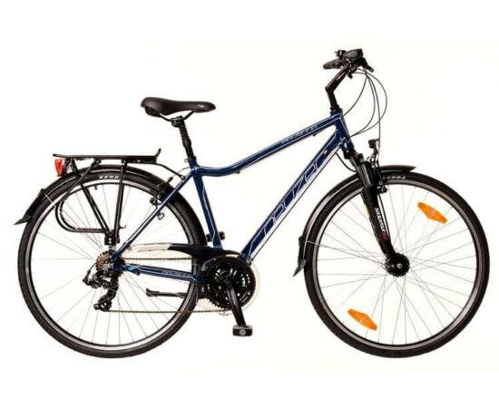 Neuzer Ravenna 100 férfi 28-as  trekking kerékpár, 21s, alumínium, agydinamós, sötétkék-fehér-türkiz