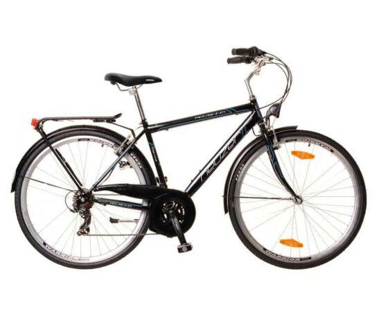 Neuzer Ravenna 30 férfi 28-as trekking kerékpár, 21s, acél, 21-es, fekete-cián-fehér