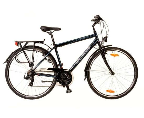 Neuzer Ravenna 50 férfi 28-as trekking kerékpár, 21s, alumínium, 21-es, fekete-cián-piros