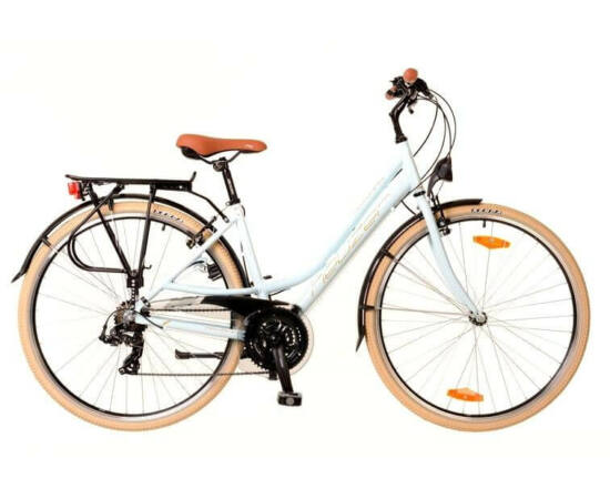 Neuzer Ravenna 50 női 28-as trekking kerékpár, 21s, alumínium, 17-es, világoskék-fehér-krém