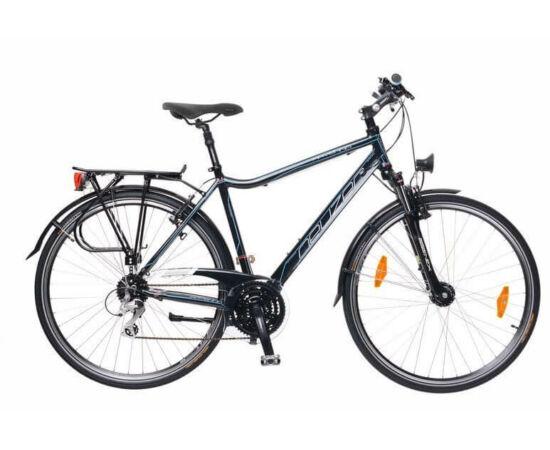 Neuzer Ravenna Alivio férfi 28-as  trekking kerékpár, 24s, alumínium,agydinamós, 21-es, fekete-cián