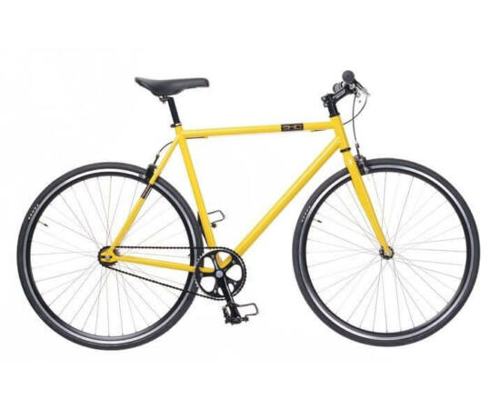 Neuzer Skid férfi 700c fixi-single speed kerékpár, acél, 51 cm, sárga-fekete