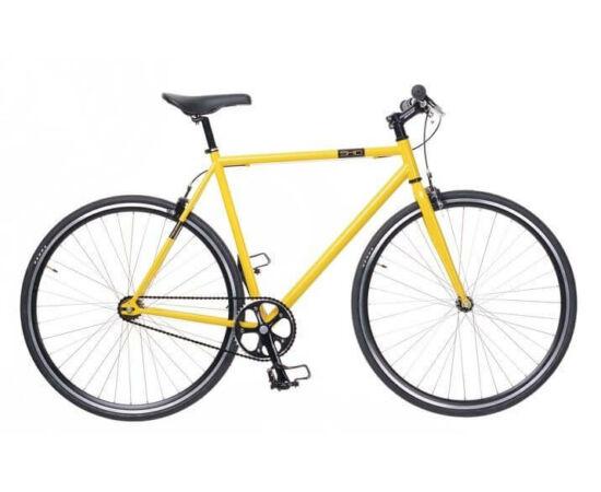 Neuzer Skid férfi 700c fixi-single speed kerékpár, acél, 60 cm, sárga-fekete