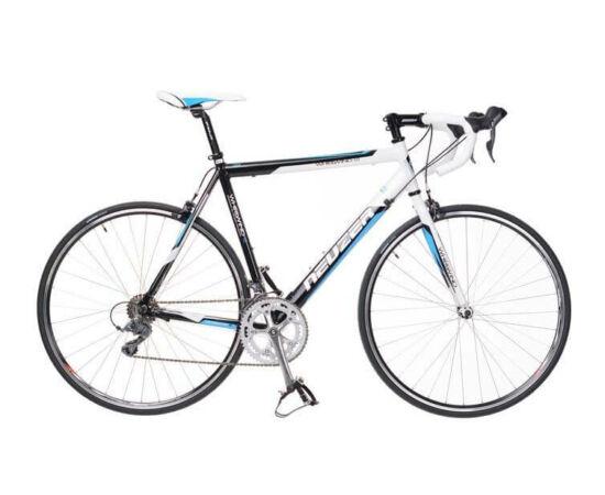 Neuzer Whirlwind 1.0 országúti kerékpár, 16s, alumínium, 48 cm, fehér-fekete-cián