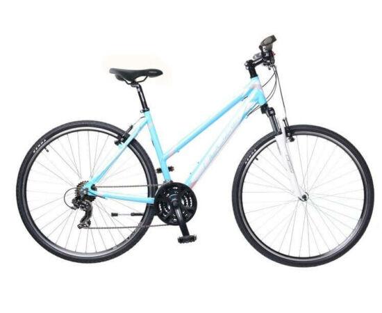 Neuzer X1 női 28-as cross kerékpár, 21s, alumínium, 19-es, világoskék-fehér-rózsaszín
