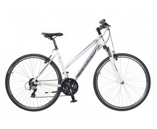 Neuzer X2 női 28-as cross kerékpár, 24s, alumínium, 19-es, fehér-szürke-bronz