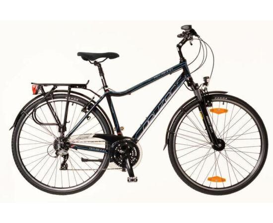 Neuzer Ravenna 200 férfi 28-as  trekking kerékpár, 24s, alumínium,fekete-cián