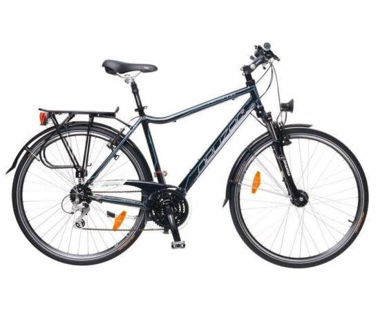 Neuzer Ravenna férfi agydinamós trekking kerékpár 21-es fekete-cián