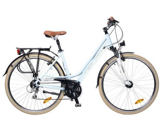 Neuzer Ravenna női agydinamós trekking kerékpár 17-es kék-fehér