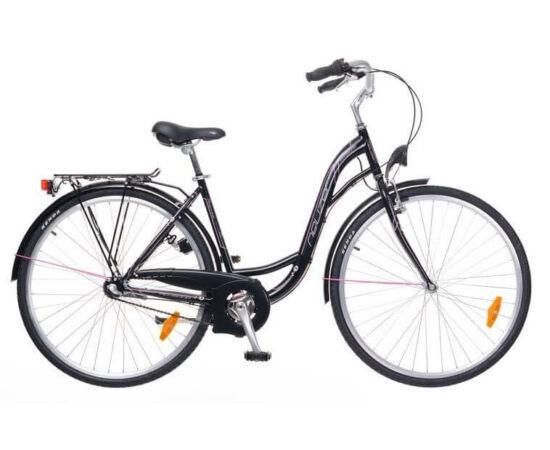 Neuzer Ravenna N3 28-as női városi kerékpár, agyváltós, fekete-rózsaszín